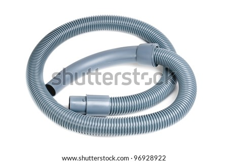 Corrugated Tube for Vacuum Cleaner  isolated  on  white