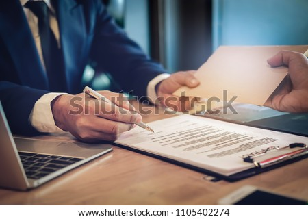 corruption concept ,The contractor provides special compensation to the authorized signatory to the agreement.
