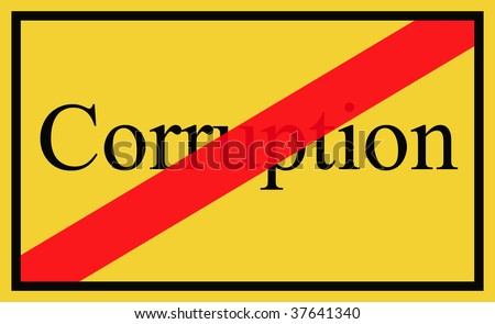 Corruption - signpost