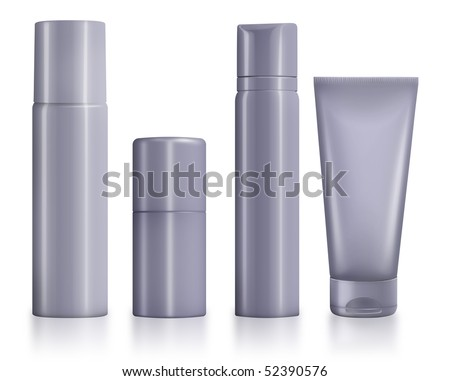 Cosmetic and hygiene container dummy for mock up