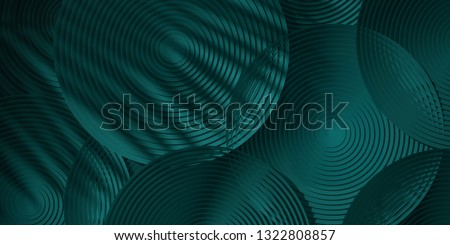 Cosmetic background for product presentation. green circular geometry with shadow of leaf. 3d rendering illustration.
