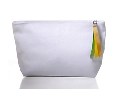 Cosmetic bag on a white