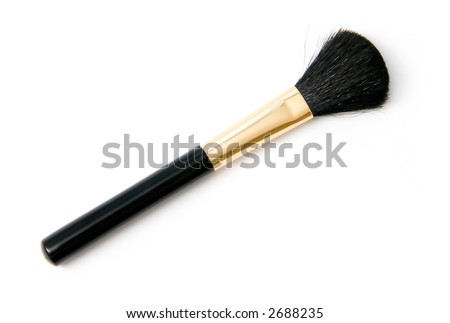 Cosmetic brush. On wite background.