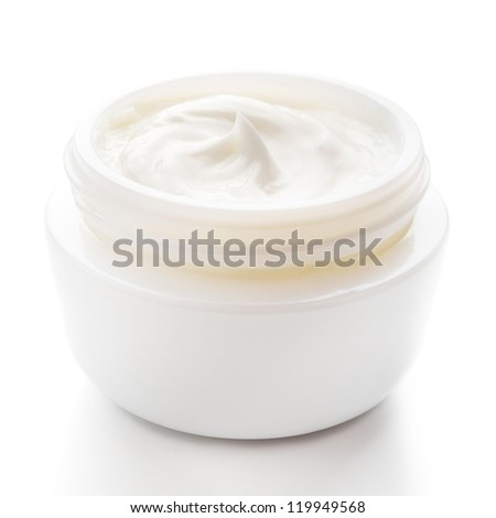Cosmetic cream for skin care isolated
