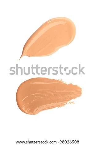 Cosmetic liquid foundation isolated on white background