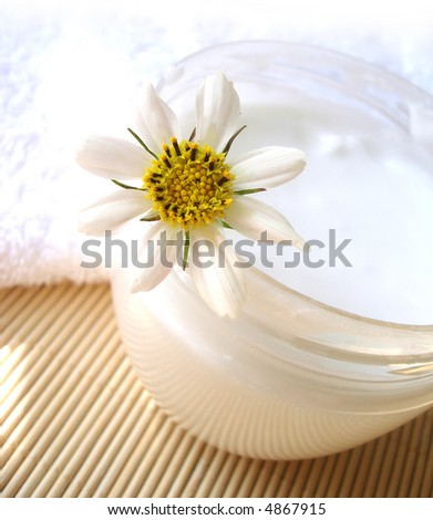 cosmetic moisturizing cream with chamomile
