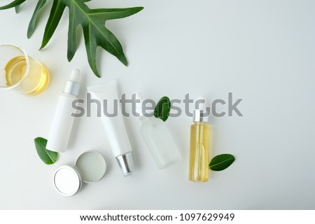 cosmetic nature skincare and essential oil aromatherapy .organic natural science beauty product .herbal alternative medicine . mock up. #1097629949