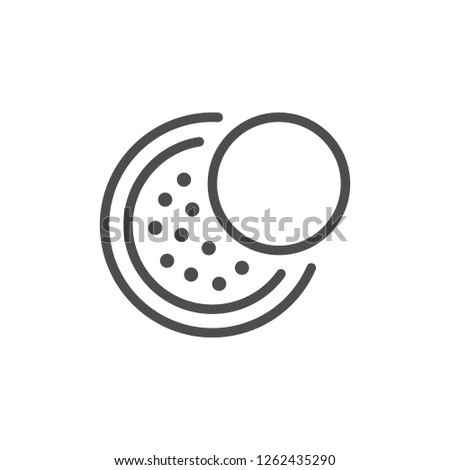 Cosmetic powder line icon isolated on white