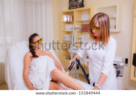 cosmetic procedures. laser hair removal on the legs