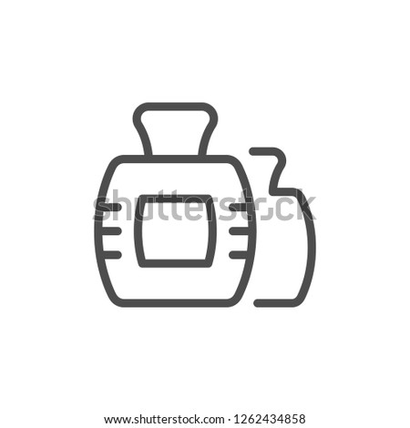 Cosmetic product line icon isolated on white