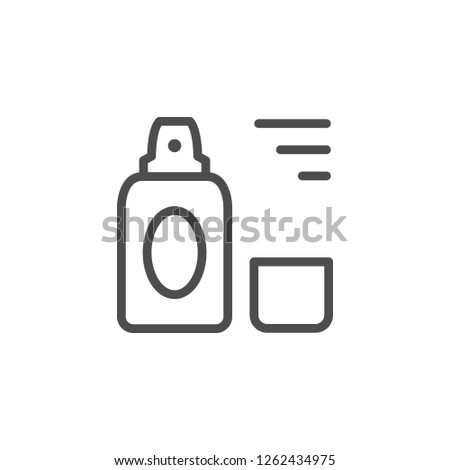 Cosmetic spray line icon isolated on whit