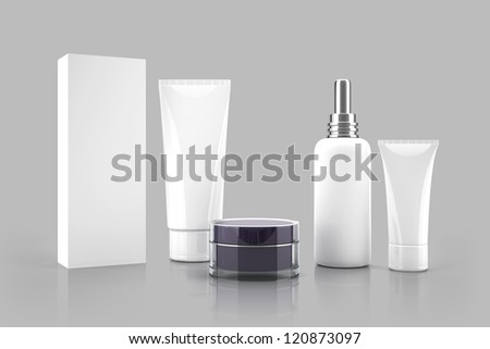 Cosmetic templates for designers. Tubes and bottles.