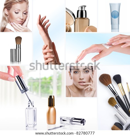 Lifestyle - Pagina 2 Stock-photo-cosmetic-theme-collage-composed-of-different-images-82780777