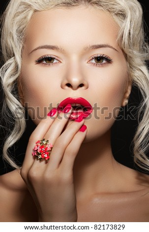 stock photo : Cosmetics, accessories and romantic retro style.