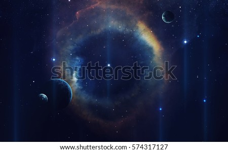 Cosmic art, science fiction wallpaper. Beauty of deep space. Billions of galaxies in the universe. Elements of this image furnished by NASA