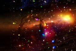 Cosmic galaxy background. Stars and cosmic gas.The elements of this image furnished by NASA.