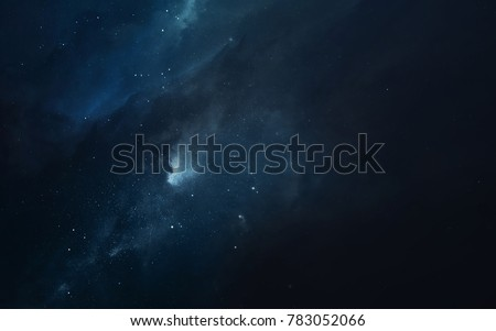 Cosmic landscape, beautiful science fiction wallpaper with endless deep space. Elements of this image furnished by NASA #783052066