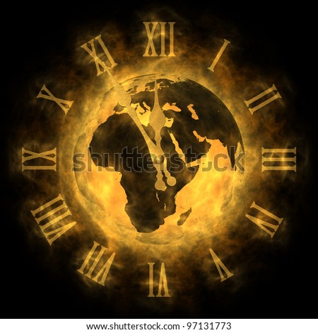 Cosmic time - global warming and climate change - Europe