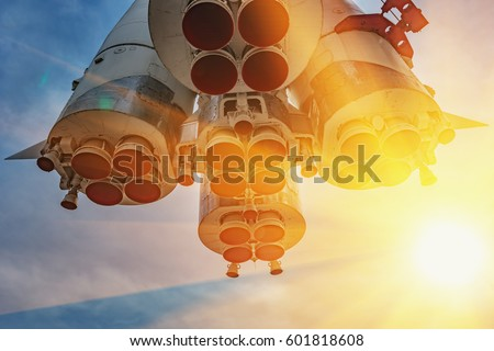 Cosmonautics Day. Soviet background- exhibition of achievements of the national economy. Russia,  Moscow.