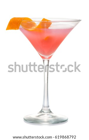 cosmopolitan cherry martini cocktail Isolated