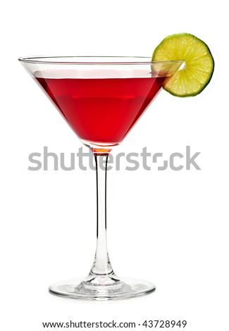 stock photo : Cosmopolitan cocktail drink isolated on...