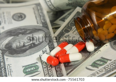 Cost of healthcare, closeup