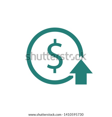 Cost Rising Icon. Finance clipart isolated on white background