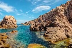 costa paradiso sardinia sea landscape in summertime