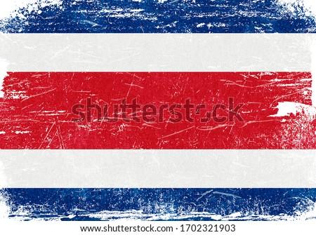 Costa Rica, Costa Rica Flag, Costa Rica Flag Background, Grunge Flag Background, Costa Rica Vintage Flag Background, Banner, Wallpaper,