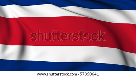 Costa Rica flag World flags Collection