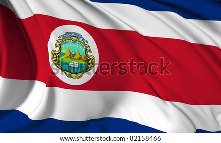 Costa Rica NEW flag HI-RES collection