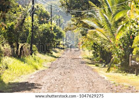Costa Rica road at Ojochal Costa Rica
