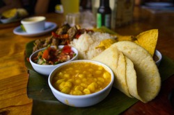 Costa rican typical food called