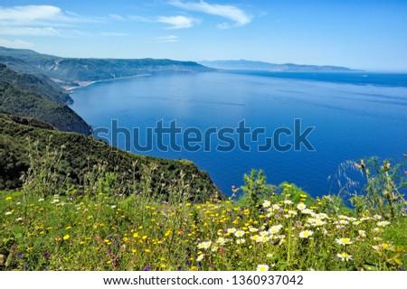 Costa Viola, Palmi, Reggio Calabria district, Calabria, Italy, Europe, seen from the Tracciolino path #1360937042