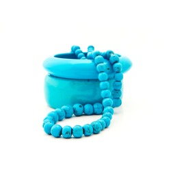 Costume jewellery from turquoise