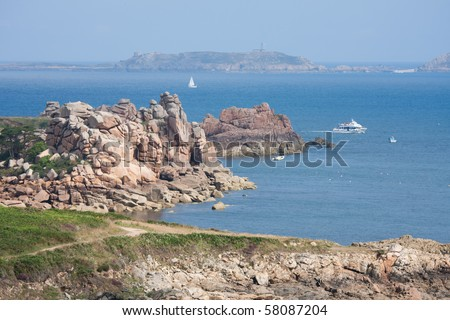 Cote de Granite Rose, Bretagne, France