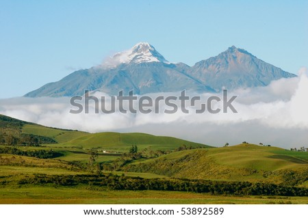 Cotopaxi is a volcano in the Andes Mountains near Quito, Ecuador.  It is the 2nd highest summit in the country.