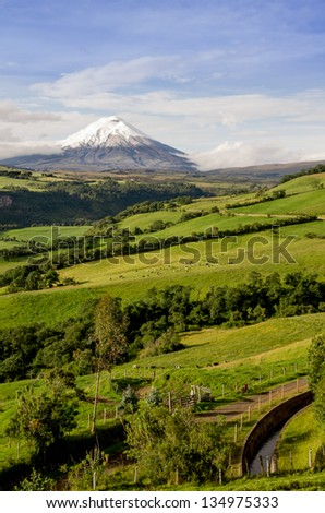 Cotopaxi volcano landscape, Ecuador.