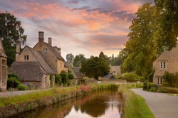 Cotswold village of Lower Slaughter, Gloucestershire, England