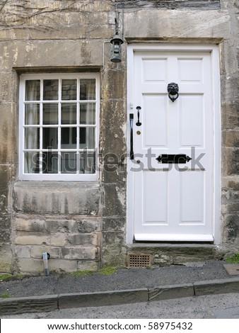Cottage Front Door and Window