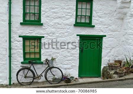 Cottage front image of dwelling in Glenoe village, county Antrim, Ireland