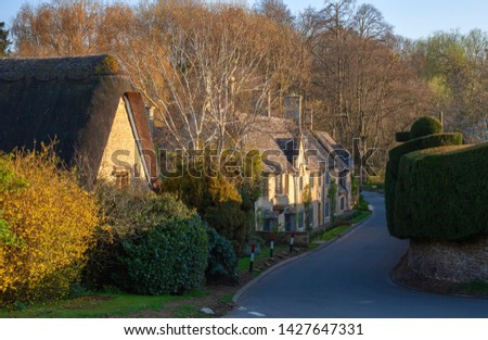 Cottages at Broad Campden, Gloucestershire, England. #1427647331