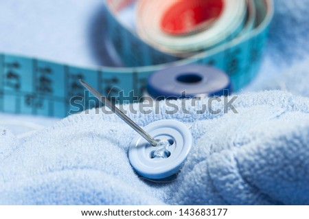 cotton button and meter detail
