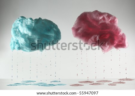 candy floss clouds. stock photo : cotton candy in