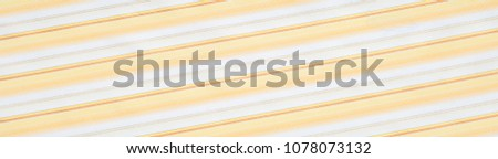 Cotton fabric texture, background, striped, with yellow stripes #1078073132