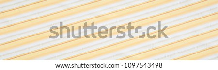 Cotton fabric texture, background, striped, with yellow stripes #1097543498