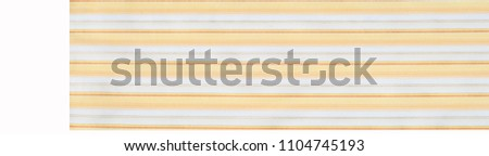 Cotton fabric texture, background, striped, with yellow stripes #1104745193