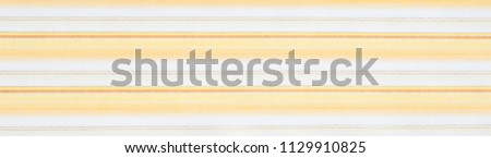 Cotton fabric texture, background, striped, with yellow stripes #1129910825
