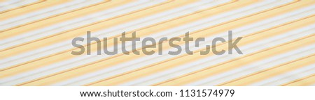 Cotton fabric texture, background, striped, with yellow stripes #1131574979