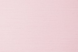 Cotton silk fabric wallpaper texture pattern background in light pastel sweet pale pink color tone